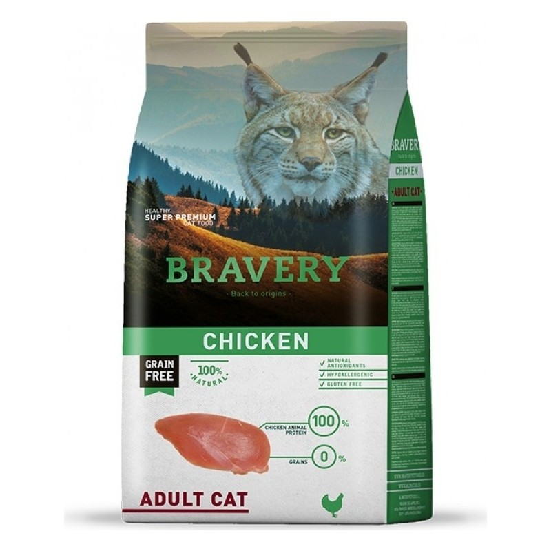 Croquettes bravery chat adulte